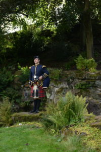Traditional Scottish Bagpiper- The Lake District