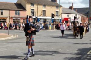 Funeral Bagpipes, Liverpool, Merseyside