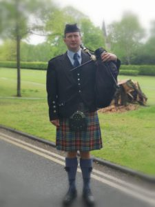 Scottish Bagpiper- Malcolm Smith