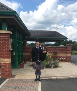 Scottish Bagpiper for Funerals- in Charnock Richards, Chorley, Lancashire